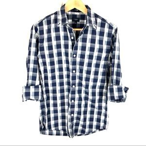 J. Crew slim fit button down shirt blue checkered
